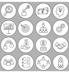 Set of thin line bussines icon vector
