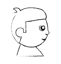 head baby character image sketch vector image