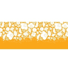 Gold and white floral silhouettes horizontal vector