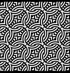 Design seamless monochrome chain pattern vector
