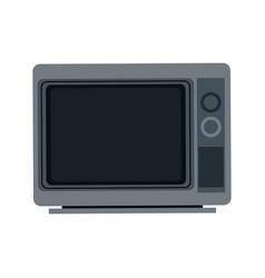 Gray tv screen broadcast classic appliance vector