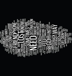 Lost in l a text background word cloud concept vector