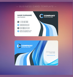 Creative business card template with abstract vector