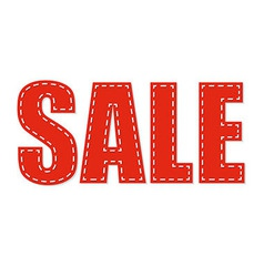 Sale red text vector