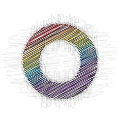 Hand drawn font letter o vector