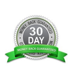 30 day money back guaranteed label vector image
