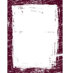 grunge border vector image