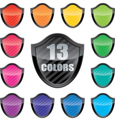 shield emblems vector image
