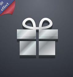Gift box icon symbol 3d style trendy modern design vector