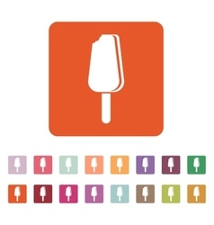 The ice cream icon eskimo pie symbol flat vector