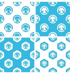 Dinner patterns set vector