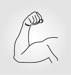 Abstract drawing of a mans arm flex vector image