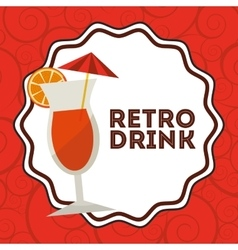 Retro drink vector