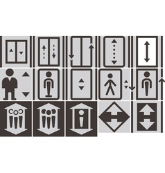 Lift icons set vector
