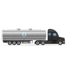 Semi truck trailer 09 vector