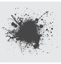 Black ink splash vector