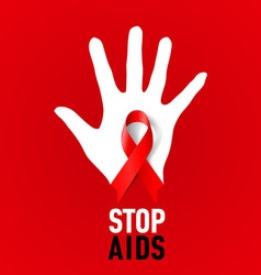 STOP AIDS 03 vector image