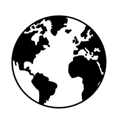World map globe earth icon vector