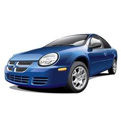American four door sedan vector image vector image