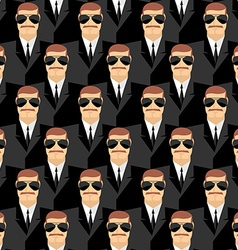 Bodyguard Seamless pattern of men in glasses vector image vector image