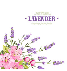 Botanical flowers garland vector