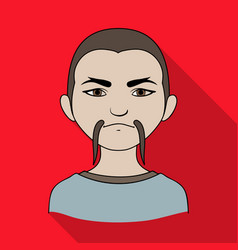 chinesehuman race single icon in flat style vector image