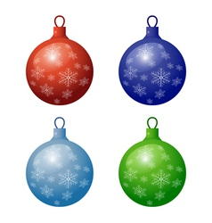 Christmas decorations icon set vector image vector image