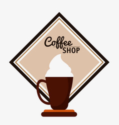 coffee shop cream espresso cream vector image