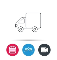 Delivery truck icon transportation car sign vector