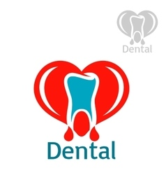 Dentistry or stomatology icon or emblem vector