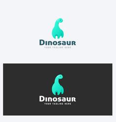 Dinosaur logo design template vector