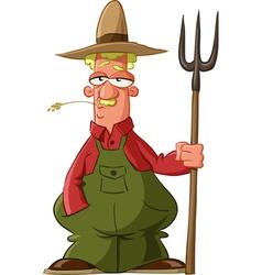 farmer vector image vector image