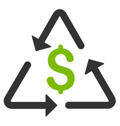 Financial recycling flat icon vector