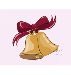 First bell call background vector