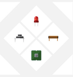 Flat icon electronics set of recipient bobbin vector