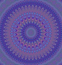 Geometric oriental fractal mandala design vector image