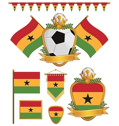 ghana flags vector image vector image