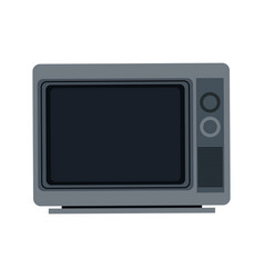 Gray tv screen broadcast classic appliance vector