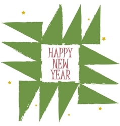 Happy New Year Greeting Card Geometric Christmas vector image