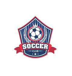 icon for soccer football club championship vector image