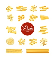 Italian Traditional Pasta Realistic Icons Set vector image