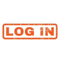 Log in rubber stamp vector