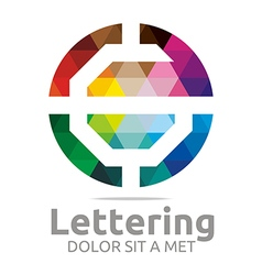 Logo Abstract Lettering G Rainbow Alphabet Icon vector image vector image