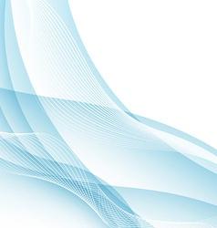 Modern water like swoosh wave border concept vector