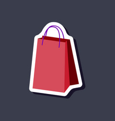 Paper sticker fashion clothes paper bag vector