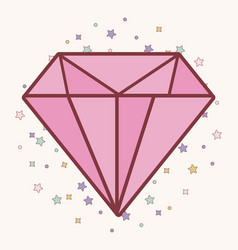 pink diamond icon vector image