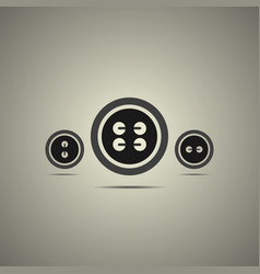 sewing buttons in black and white style vector image vector image