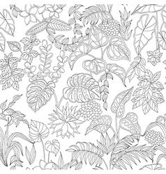 tropic pattern monochrome vector image
