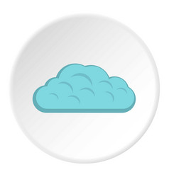 Winter cloud icon circle vector