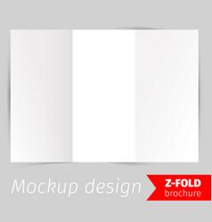 z-fold brochure mockup design vector image vector image